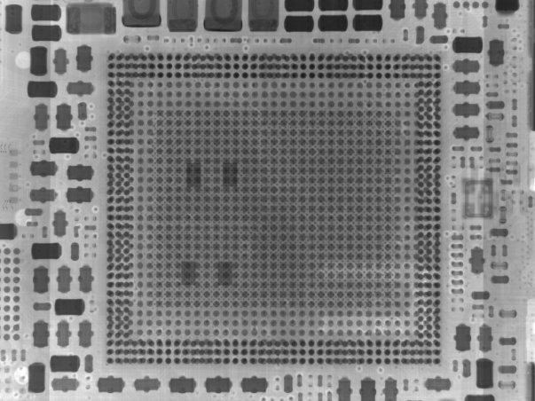 این هم تصویری تهیه شده بوسیله اشعه ی ایکس از چیپست قدرتمند A8.