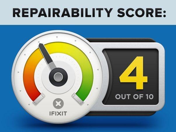 بر مبنای مزایا و معایبی که ذکر شد ما نمره ی تعمیر پذیری ۴ از ۱۰ را به آیپاد تاچ نسل ششم اپل دادیم.