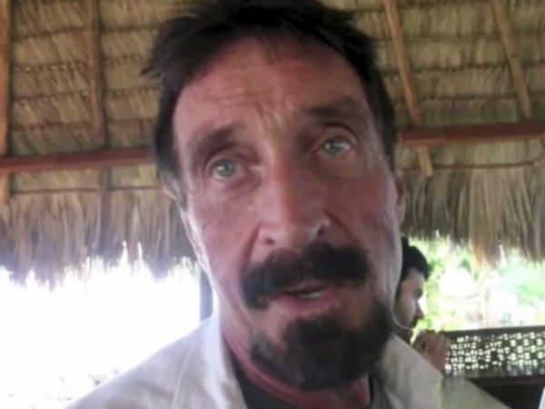 مک آفی در کشورگواتمالا دستگیر شد. پلیس این کشور در واقع او را به دلیل ورود غیر قانونی اش بهگواتمالا دستگیر نمود. در طول بازداشت، وی با مشکلات قلبی رو به رو شد و در نهایت ازگواتمالا اخراج و به آمریکا بازگردانده شد.