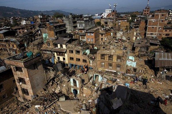 ویرانی های زلزله در نپال