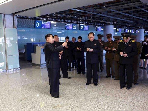 کیم جونگ اون رهبر کره شمالی نقشی فعال را در طراحی بنای این فرودگاه ایفا کرده است.