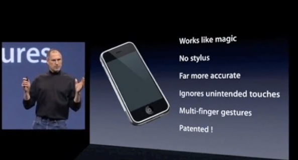 January-2007-iPhone-introduction-Steve-Jobs-multitouch-patented-slide