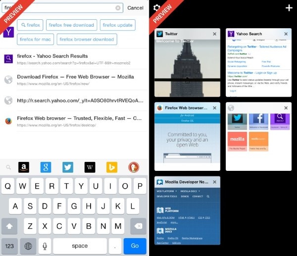 Firefox-for-iOS-features-intelligent-search-left-and-visual-tabs-right