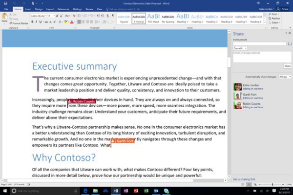 Real-time+co-authoring+in+Word+2016-w600