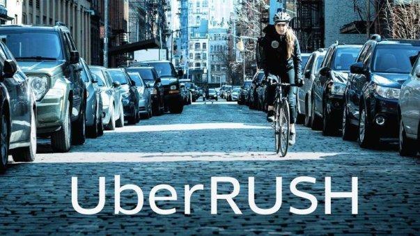 آوریل 2014: سرویس UberRUSH به مشتریان این شرکت تاکسی رانی عرضه گردید که به موجب آن این بار دوچرخه به ساکنان منهتن کرایه داده می شد. برای استفاده از این سرویس لازم بود که مبلغ پایه 15 دلار پرداخت گردد و سپس برحسب اینکه فرد در نظر دارد در چه محدوده ای حرکت کند، هزینه بیشتری به آن اضافه می گردید.