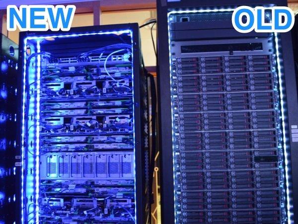 وقتی یکی از سرورهای قدیمی این شرکت را با انواع جدیدترش مقایسه نمایید به راحتی می توانید از روی اختلافات ظاهری، آنها را از یکدیگر تشخیص دهید.
