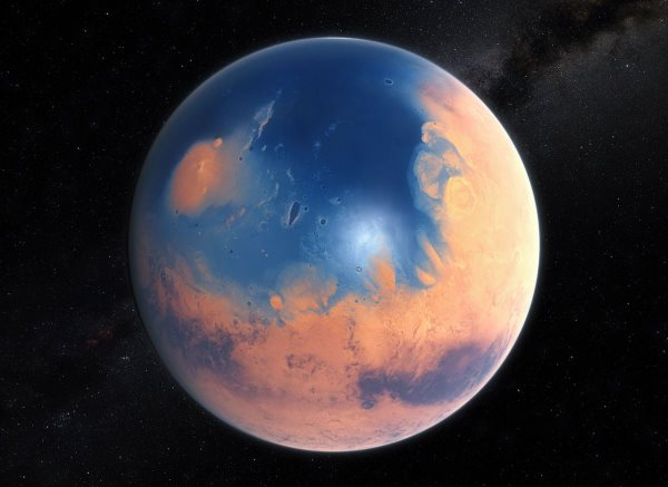 earlier-this-year-a-team-of-scientists-estimated-that-about-45-billion-years-ago-at-least-one-fifth-of-mars-was-covered-in-an-ocean-more-than-450-feet-deep-any-signs-of-life-that-swam-in-these-waters-could-therefore-be-hidde