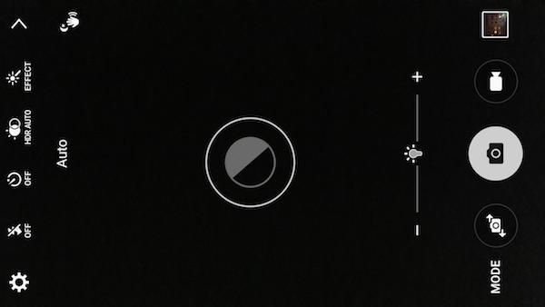 رابط کاربری دوربین گلکسی S6