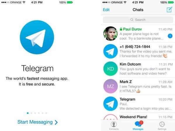 اسکرین شات نسخه اندرویدی اپلیکیشن تلگرام