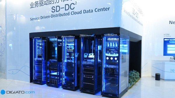 ساخت سرور یکی دیگر از حوزه هایی است که هوآوی در آن به فعالیت می پردازد.