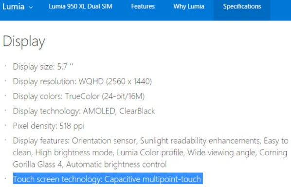 Microsoft-specs-page