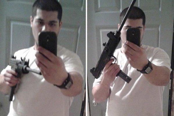 جاستین باهلر 21 ساله سلفی خود را در حالی که یک اسلحه به دست داشت در فیسبوک منتشر کرد و آنطور که گفته شده بعد از این کار به بانکی در میشیگان دستبرد زد. مامورانی که در ادامه تصاویر ضبط شده توسط دوربین های امنیتی را مشاهده کردند او را شناسایی کرده و دستگیر کردند.