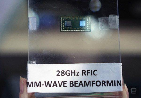 یکی از چیپ های اینتل که به تکنولوژی موج میلیمتری مجهز شده است.