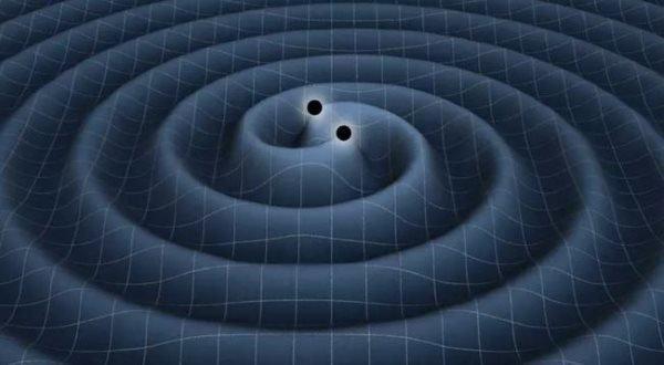 لحظه برخورد دو سیاه چاله