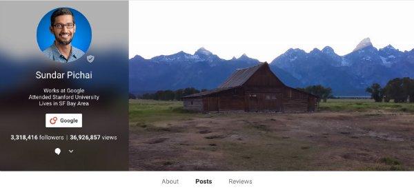 ساندر پیچای فعالیت اندکی در اینستاگرام و توییتر دارد اما در عوض، فعالیت اش در گوگل پلاس بالاست. وی در این شبکه اجتماعی بیشتر در مورد علایق اش می گوید و آنها را به جهان نشان می دهد.