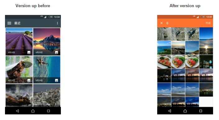 تغییرات ظاهری انتخاب کننده تصاویر در اپلیکیشن Movie Creator.