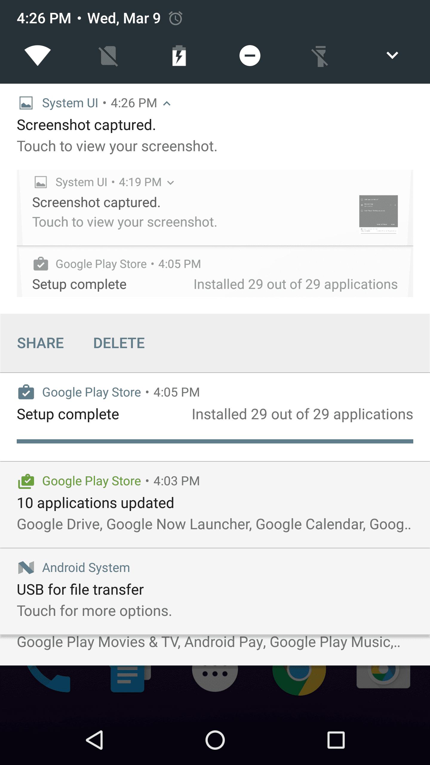 تغییرات جدید منوی تنظیمات در اندروید N