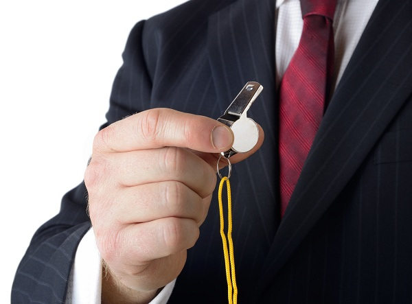 Business coach with whistle