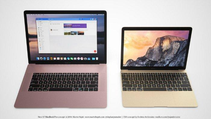 بیایید با بزرگترین شایعه شروع کنیم: اپل امسال قصد دارد نمونه ۱۲ اینچی از مک بوک خود را با نمایشگرهای ۱۳ و ۱۵ اینچی رونمایی کند. گفته می شود که شاسی آنها نیز به شکل کامل بازطراحی شده است.