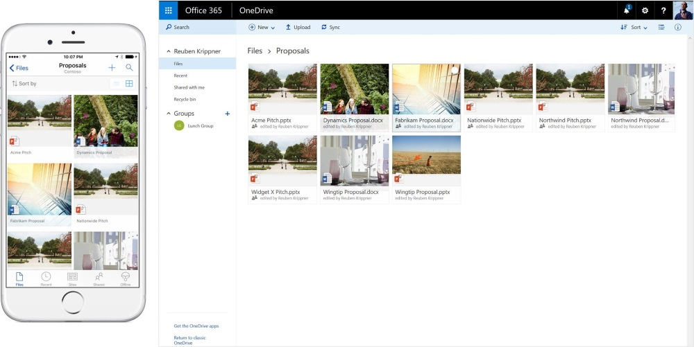2016 may 4 future of sharepoint -new ui for file folder in onedrive for business ios_browser