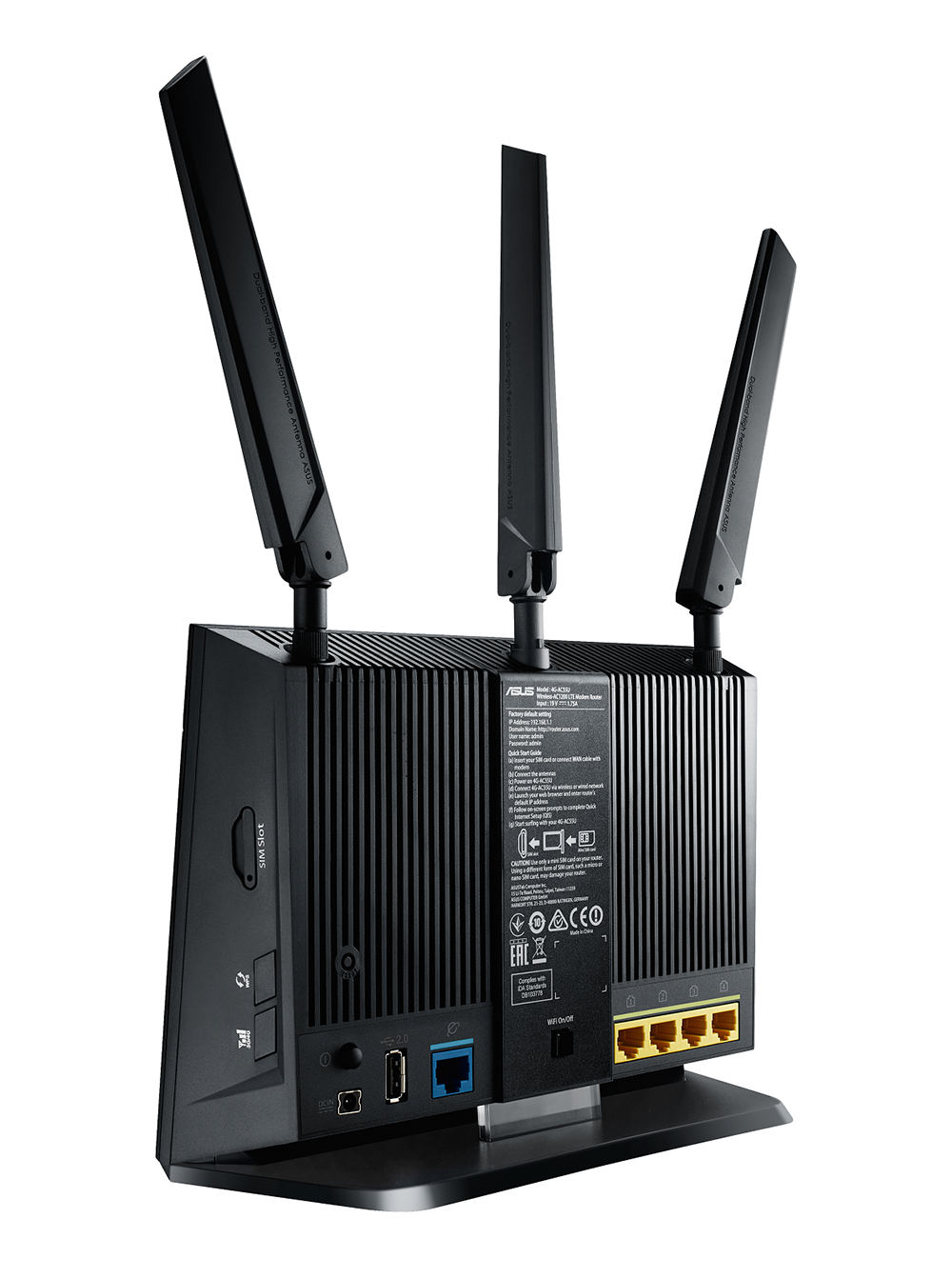 ASUS 4G-AC55U 4G LTE router_rear side