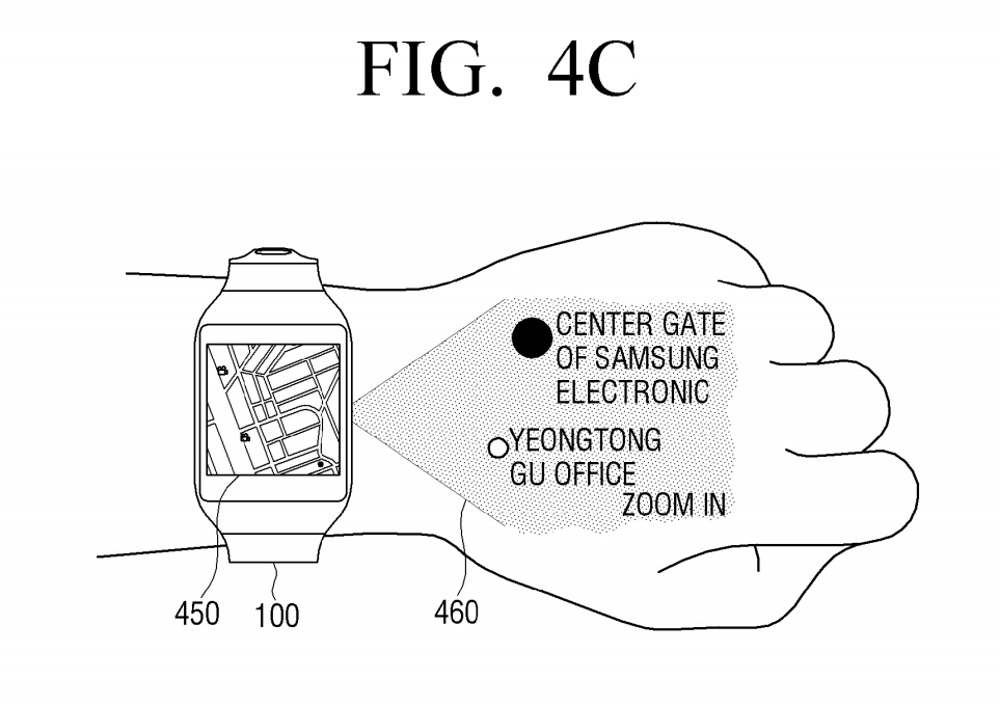 Samsung-virtual-UI-for-wearables-patent5