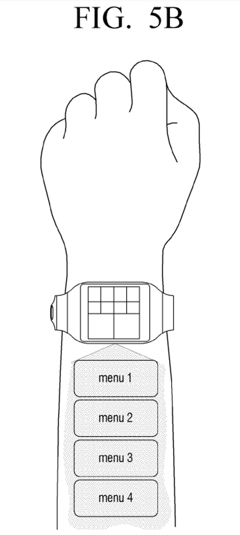 Samsung-virtual-UI-for-wearables-patent7