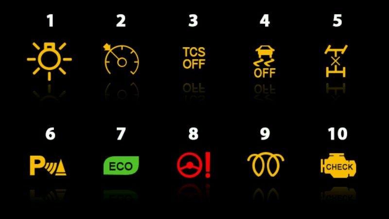 معنی و مفهوم چراغ های اخطار پشت آمپر خودروها بخش دوم