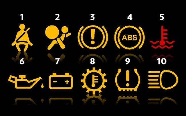 معنی و مفهوم چراغ های اخطار پشت آمپر خودروها بخش اول