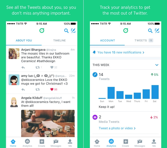 Dashboard by Twitter 1