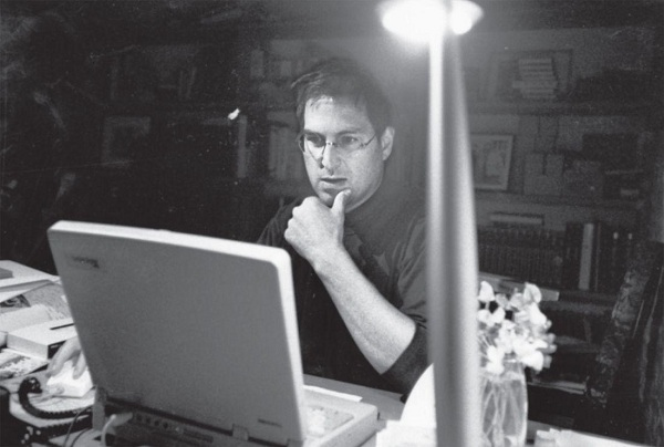 steve-working-at-his-home-for-boson-macworld-speech-1997