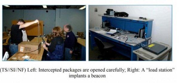 یکی از روش های منحصر بفرد این سازمان چندی پیش در اسناد افشا شده ویکی لیکس لو رفت: هکرهای ارشد سازمان امنیت در واقع سخت افزار و کامپیوترهای متصل به شبکه را رهگیری کرده و «فرستنده» هایی را درون آنها نصب می کردند که در واقع نوعی درب پشتی را در اختیارشان قرار می داد. آنها در ادامه سخت افزار مورد نظر را بسته بندی کرده و برای گیرنده ارسال می کردند.