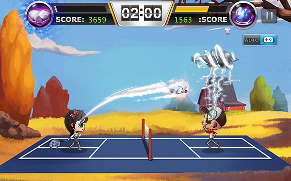 Badminton-game