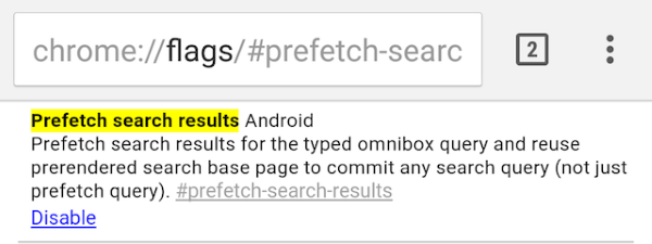 chrome-flags-android-prefetch-search-results