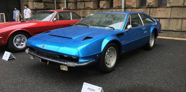 لامبورگینی Jarama اتومبیل 2+2 که بین سال های 1970 تا 1976 در مجموع به تعداد 328 دستگاه تولید شد
