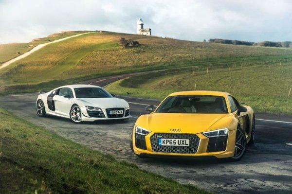 Audi R8 V10 Plus Vs GT Supercar Battle Of The Generations (1)