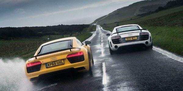 Audi R8 V10 Plus Vs GT Supercar Battle Of The Generations (2)