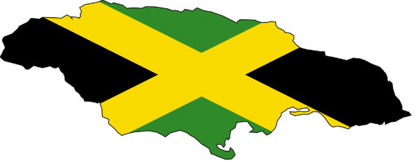 Jamaica_flag_map