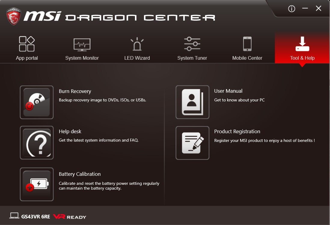 MSI Dragon Center Tool & Help
