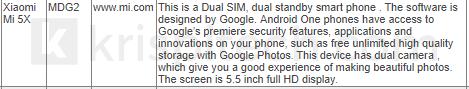 شیائومی Mi A1 اولین گوشی شرکت شیائومی که با اندروید وان عرضه می شود
