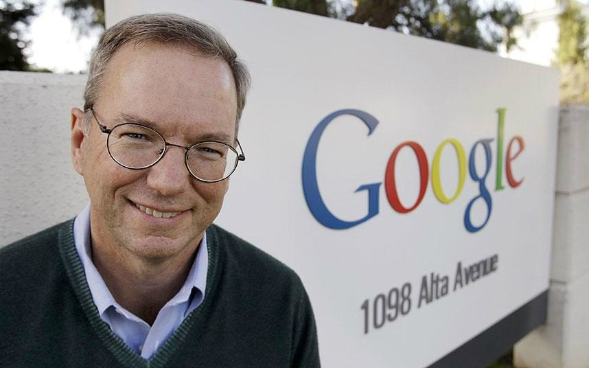 اریک اشمیت مدیرعامل پیشین گوگل معاون اجرایی آلفابت