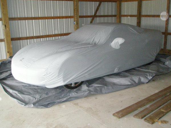 Tarp under car