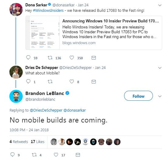 ویندوز اینسایدر موبایل