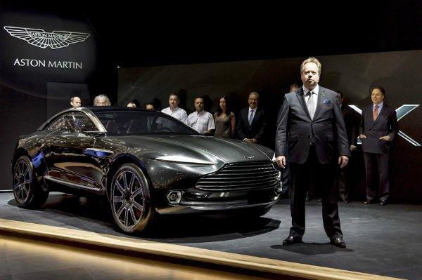 Aston Martin DBX crossover concept and Andi Palmer