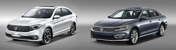 Dongfeng Jingyi S50 and Volkswagen Passat