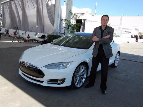 Elon Musk with Tesla