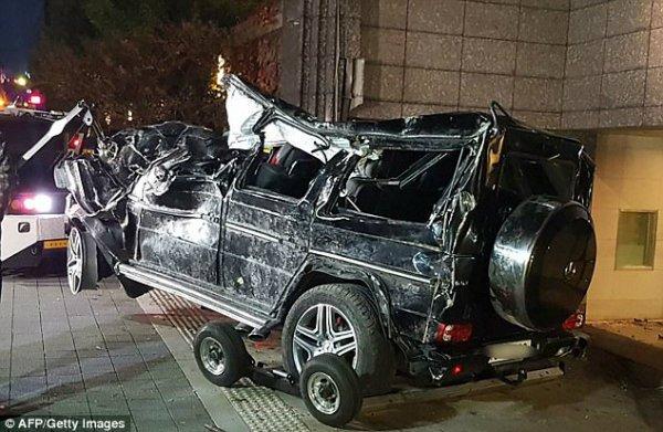 Mercedes G class deadly crash