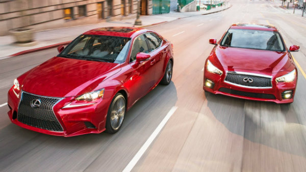 2014 Infiniti Q50S vs 2014 Lexus IS350 F-Sport! - Head 2 Head Ep. 40