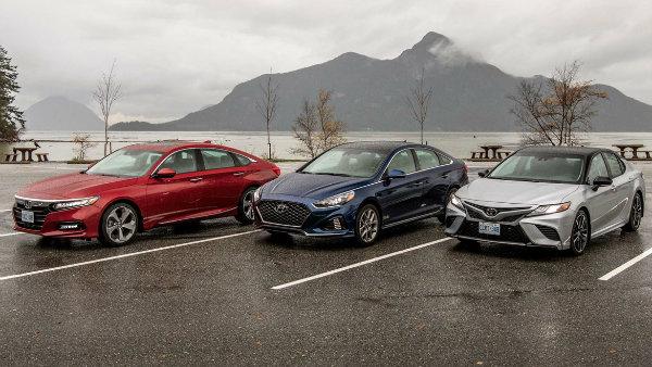 2018 Honda Accord, 2018 Hyundai Sonata & 2018 Toyota Camry