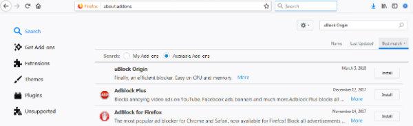 افزونه های فایرفاکس